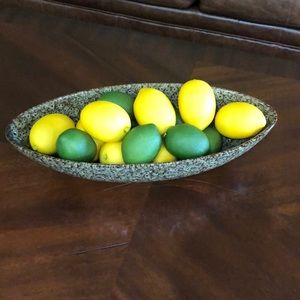 Ceramic Oval Brown and Green Bowl